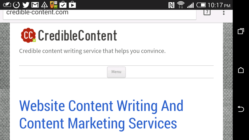 Making your content mobile friendly