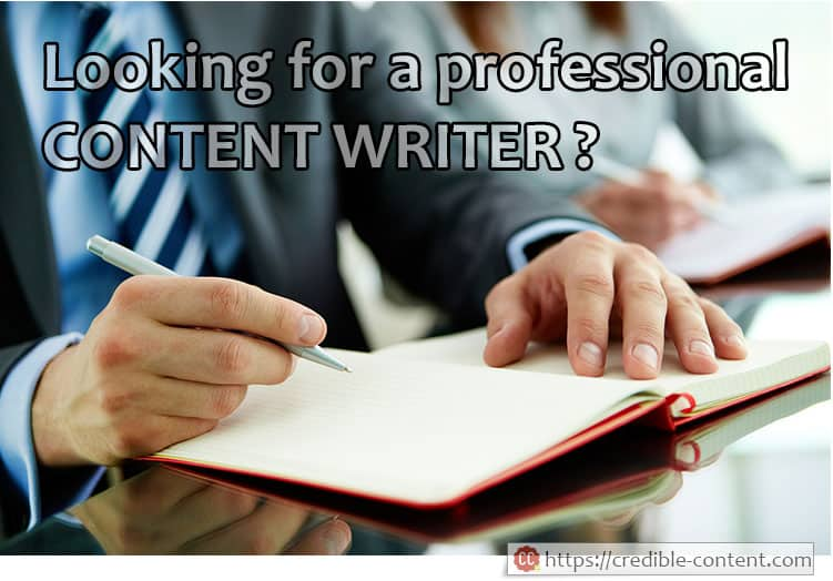 Looking for a professional content writer