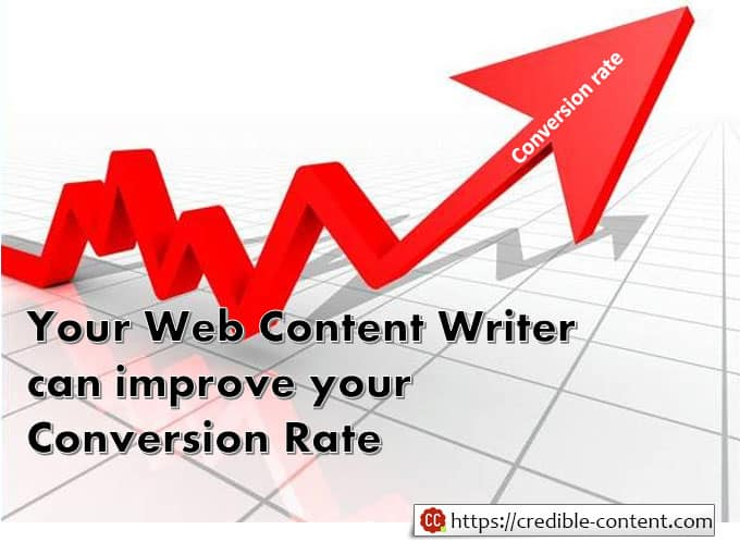 Web content writer and conversion rate