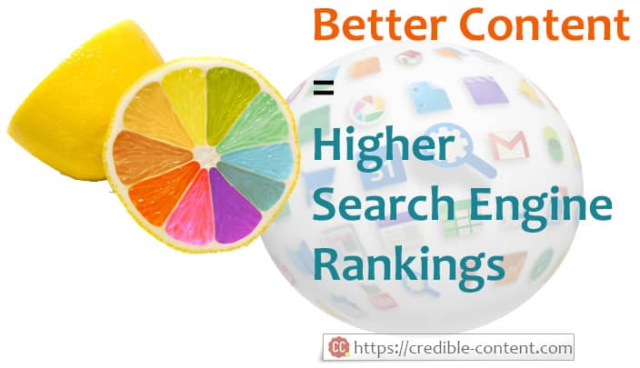 Better content improves your search engine rankings