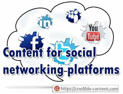Social networking content marketing