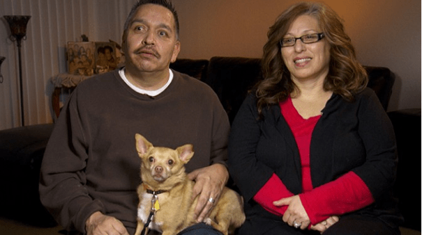 Photo of the couple that has adopted Eddie the Terrible