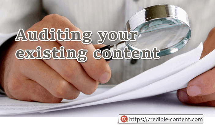 Image of auditing your existing content