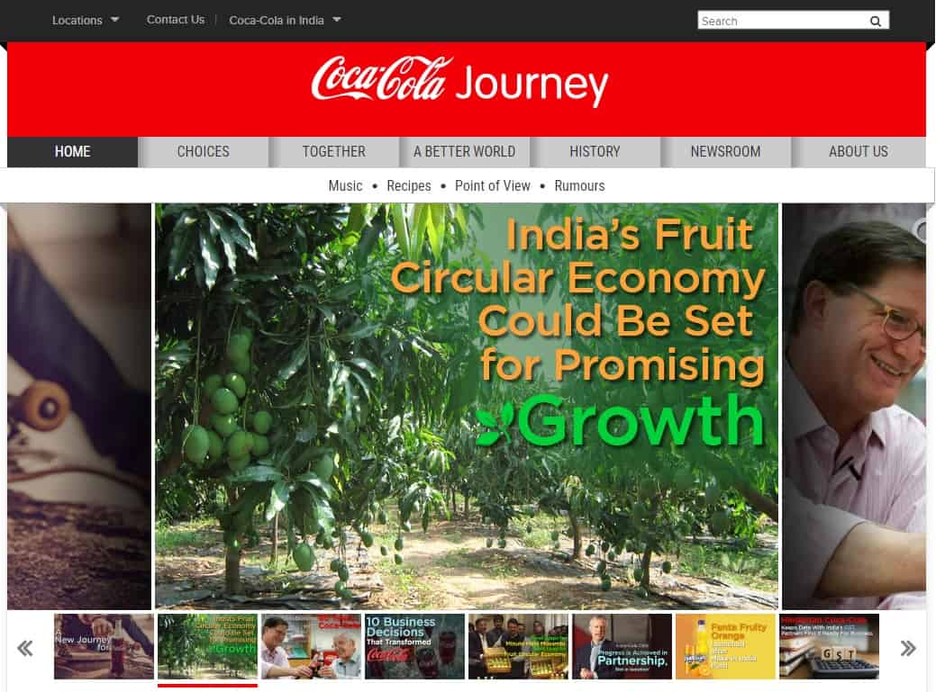Coca-Cola journey magazine launched in India