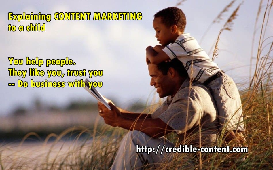 explaining content marketing to a child