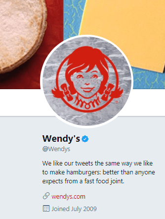 wendys content marketing example