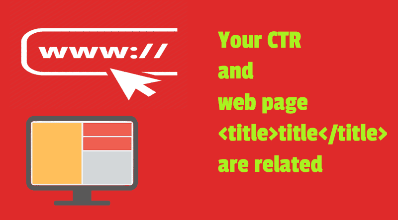 Improve your CTR with web page and blog post titles