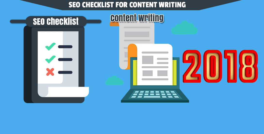 SEO checklist for content writing for 2018