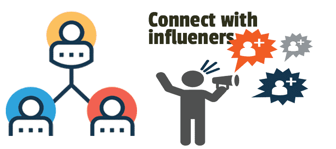 Connect with influencers