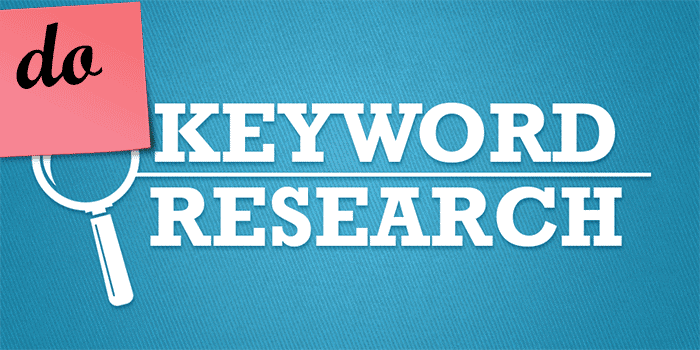 Do keyword research before writing content for better SEO