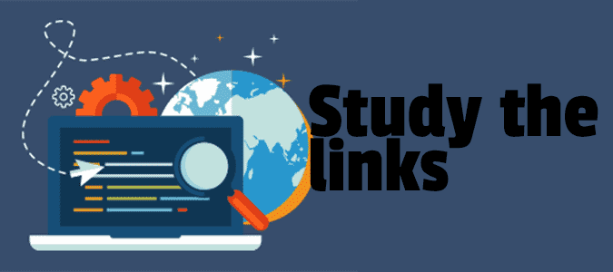 Study the links for SEO
