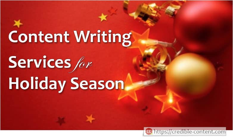Content writing services for holiday season