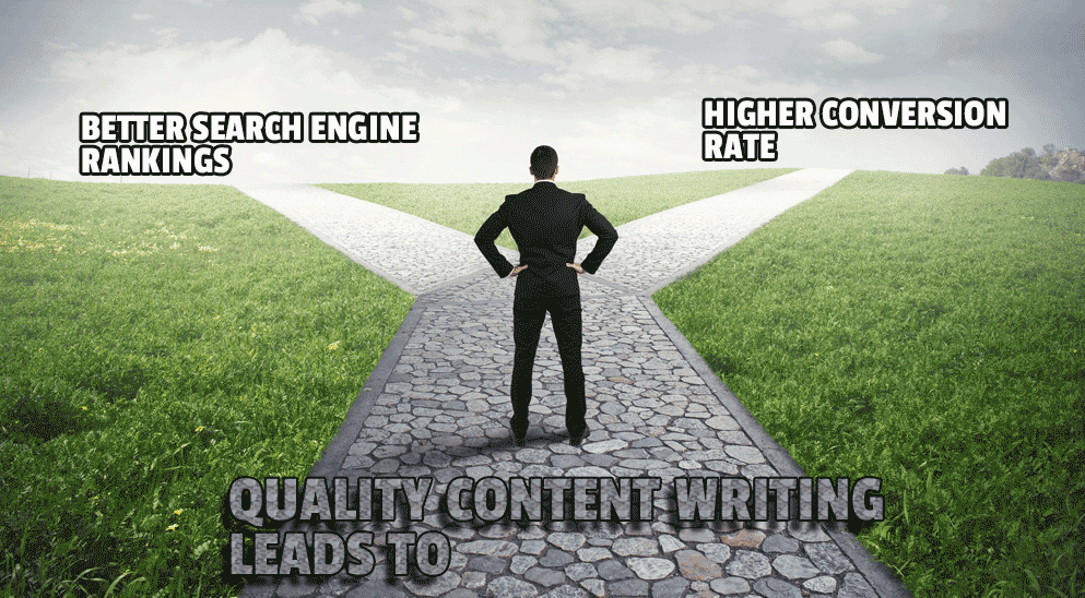 Quality content writing services lead to better search engine rankings and higher conversion rate
