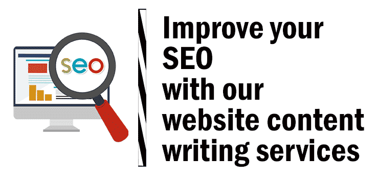 Improve your SEO with our website content writing services