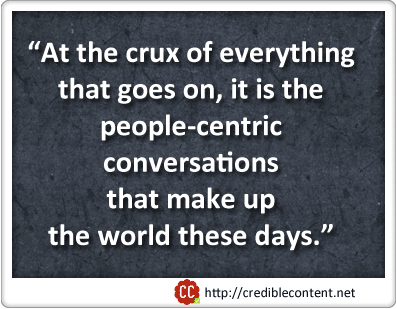 Everything boils down to conversations