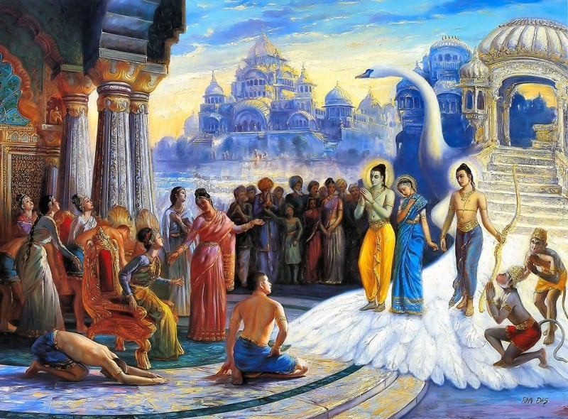 Ram returning home to Ayodhya