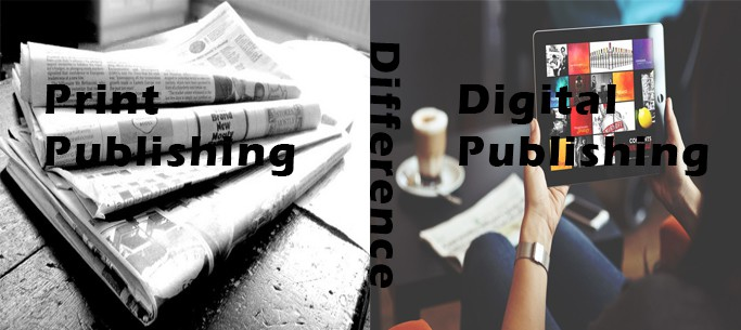 Difference between print writing and digital writing