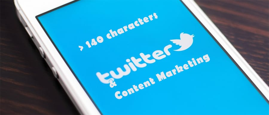 Content marketing on Twitter with more than 140 characters