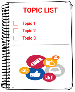 Maintaining a topic list
