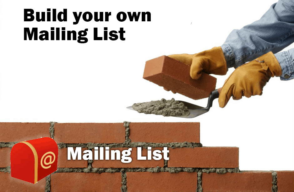 Build your own mailing list