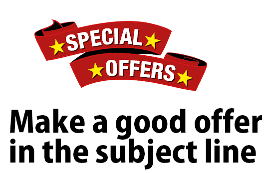 Make a good offer in the subject line to increase your email open rate
