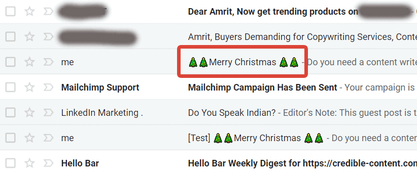 Use icons and emojis in the subject line