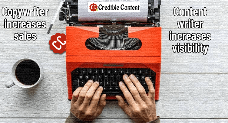 Copywriter increases sales content writer increases visibility
