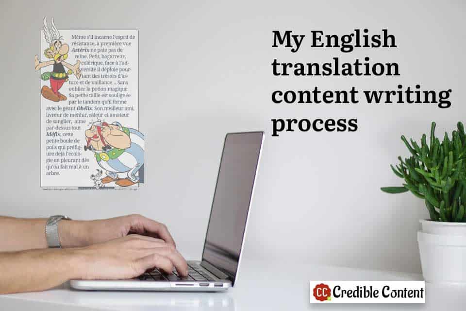 My English translation content writing process