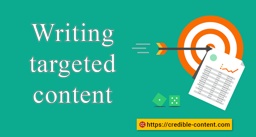 Writing targeted content