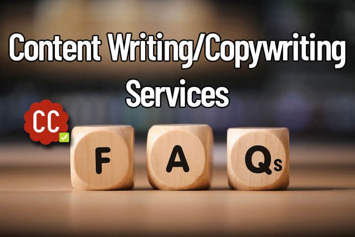 Content writing copywriting services FAQs