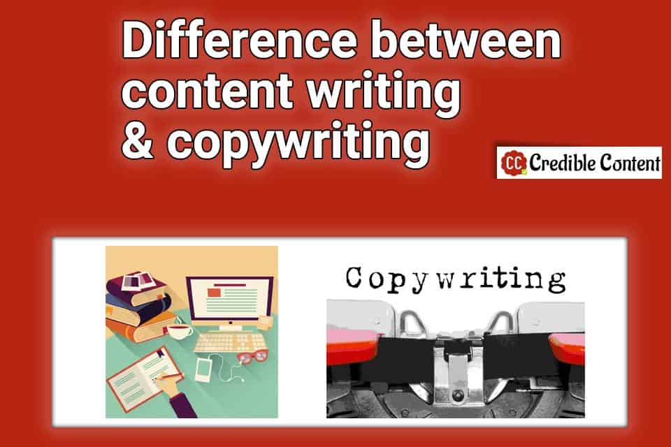 Difference between content writing and copywriting