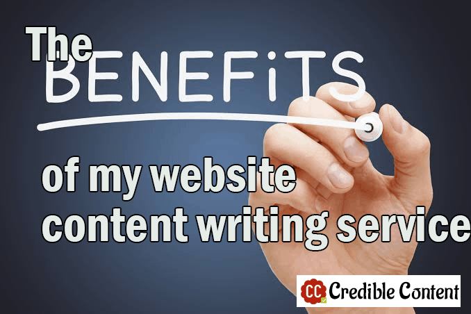 The benefits of my website content writing services