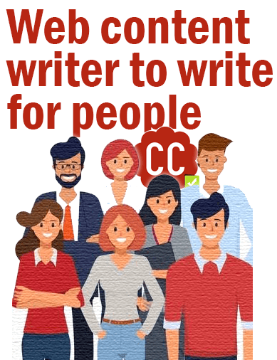 Web content writer to write for people