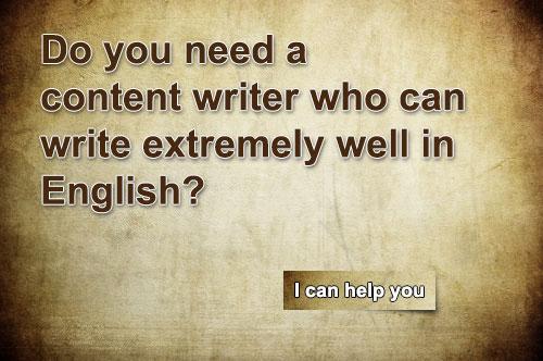 English content writer