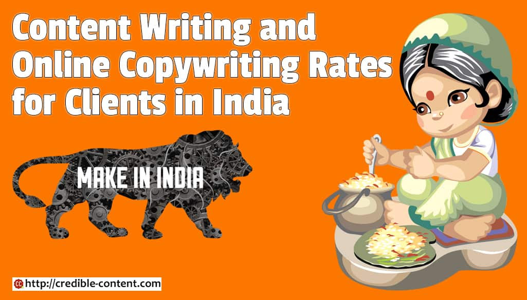 Content Writing, Online Copywriting Rates: Indian clients