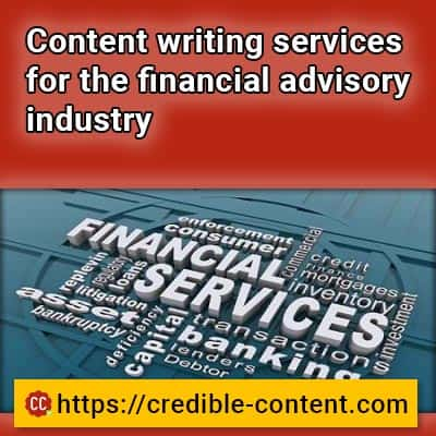 Content writing services for the financial advisory industry