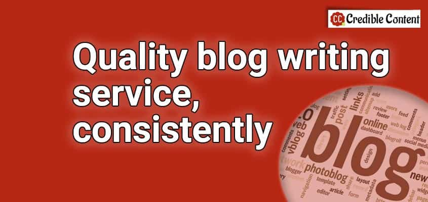 Quality blog writing service consistently