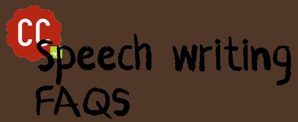 Speech writing FAQs