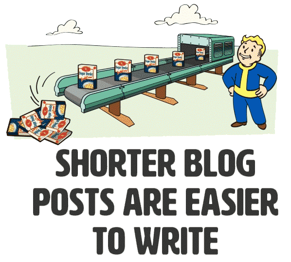 Shorter blog posts are easier to write