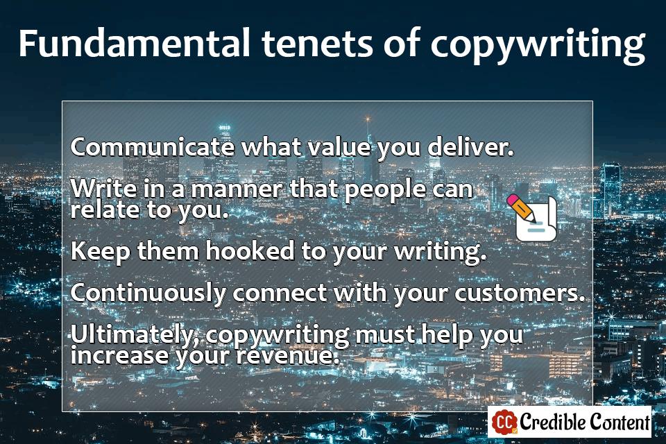 Fundamental tenets of copywriting