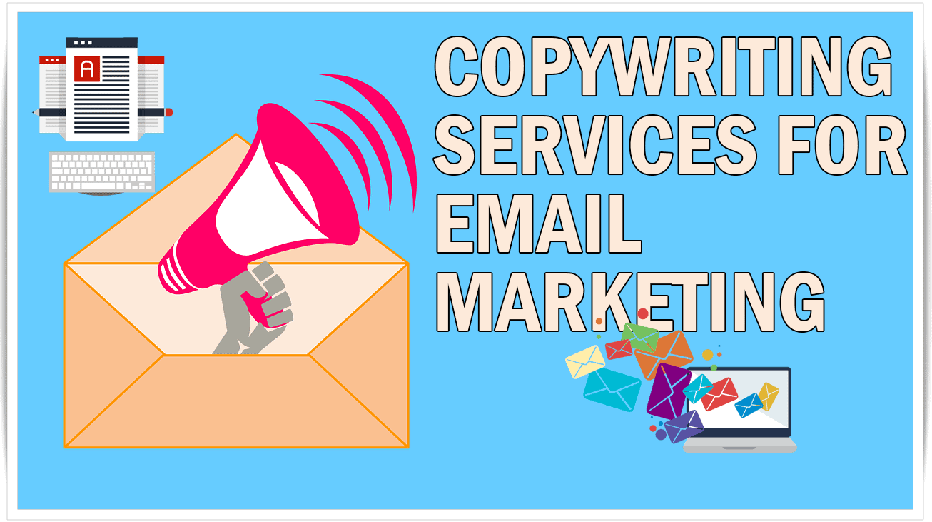 The image shows some email marketing icons