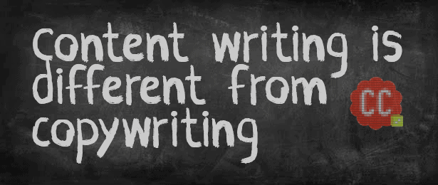 Content writing is different from copywriting