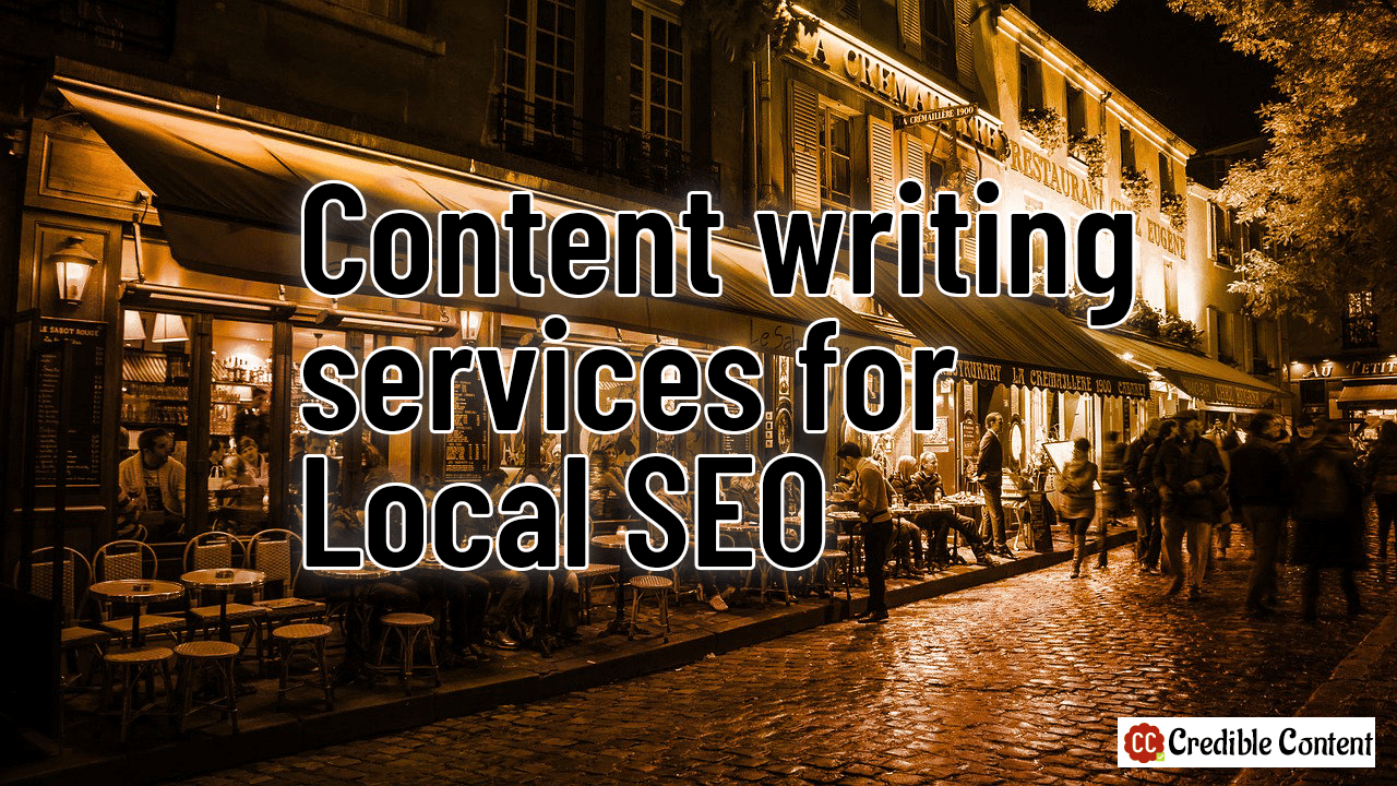 Content writing services for local SEO