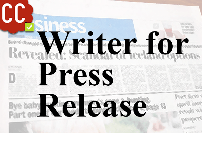 Writer for press release