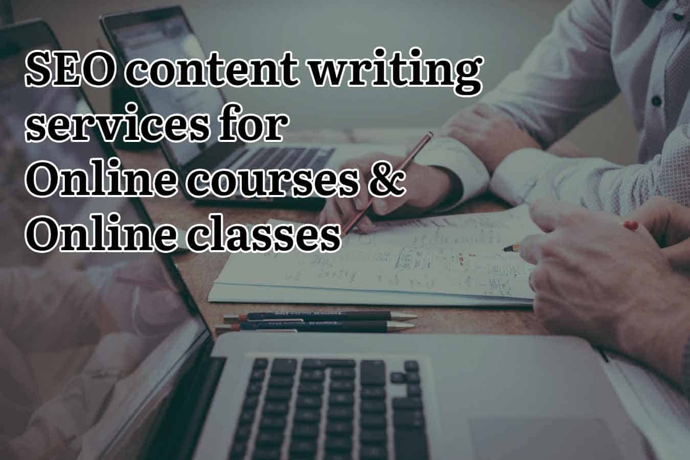 SEO content writing services for online courses and classes