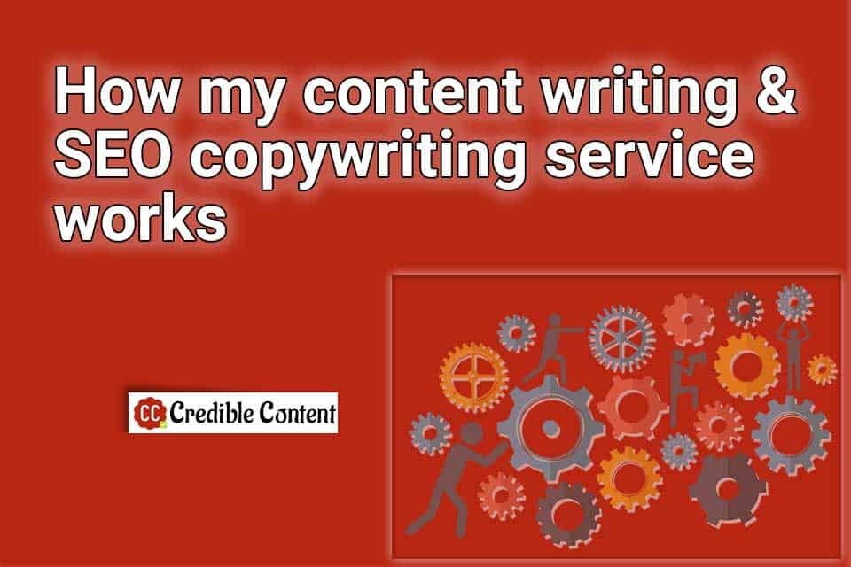 How my content writing an SEO copywriting service works