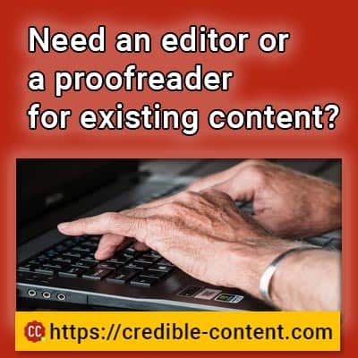 Need an editor or a proofreader for existing content