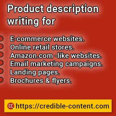 Product description writing for different needs