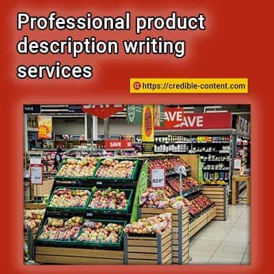 Professional product description writing services