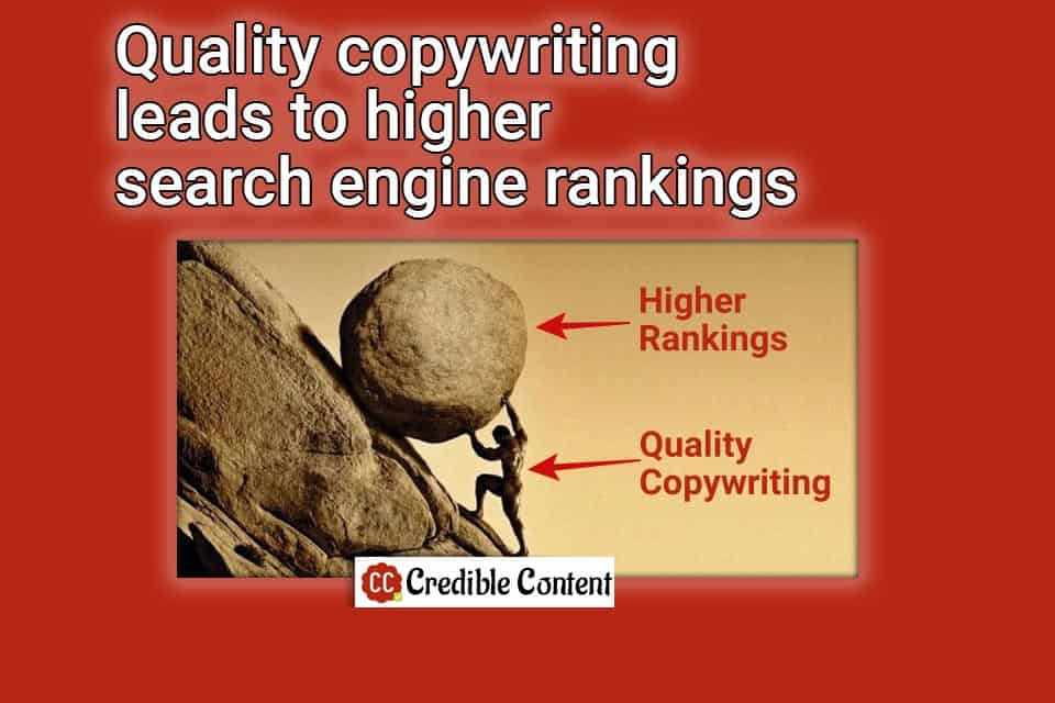 Quality copywriting leads to higher search engine rankings